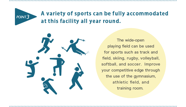A variety of sports can be fully accommodated at this facility all year round.